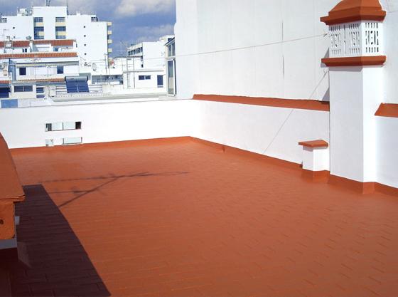 Terraza tratada con Antigoteras de Pinturas Blatem