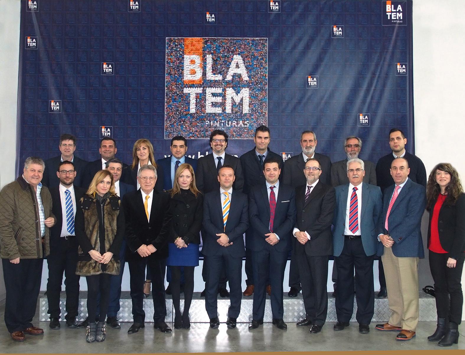 Foto de grupo del equipo directivo de Pinturas Blatem